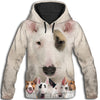 Bull Terrier Awesome All Over Print Hoodie