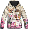 Bull Terrier Flower All Over Print Hoodie ZEUS291251