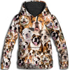 Bulldog All Over Print Hoodie
