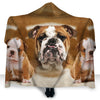 Bulldog Face Hooded Blanket ZEUS2401