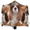 Cavalier King Charles Spaniel Face Hooded Blanket ZEUS2901