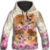 Chow Chow Flower All Over Print Hoodie ZEUS060125