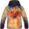Dachshund Galaxian All Over Print Hoodie  ZEUS060112