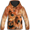 Dachshund Family All Over Print Hoodie