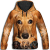 Dachshund Awesome All Over Print Hoodie