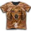 Dachshund Face New All Over Print T-shirt ZEUS1501