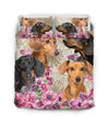 Dachshund Flower Bedding GAEA191203