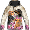 Dachshund Flower All Over Print Hoodie GAEA191206