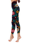 Flower Art 7 Low Rise Leggings ZEUS060147