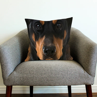 POSEIDON - DOBERMAN PINSCHER BIG FACE PILLOW COVERS 1004