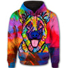German Shepherd Color All Over Print Full Zip Hoodie ZEUS271208