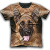 German Shepherd Face New All Over Print T-shirt ZEUS1501