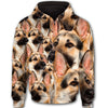 German Shepherd - Happy Dog All Over Print Full Zip Hoodie PHOEBE060213