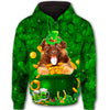 German Shepherd Lucky Leaf All Over Print Full Zip Hoodie GAEA180118