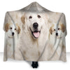 Great Pyrenees Face Hooded Blanket ZEUS290118