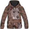 Italian Greyhound Awesome All Over Print Hoodie
