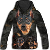 Miniature Pinscher Awesome All Over Print Hoodie