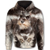 Miniature Schnauzer Face All Over Print Full Zip Hoodie ZEUS020111