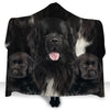 Newfoundland Face Hooded Blanket ZEUS2901