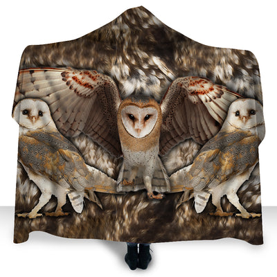 Wild Animals - Owl Wild Hooded Blanket - PHOEBE310123