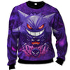 Pokemon - Ghost Pokemon All Over Print Crewneck Sweatshirt - PHOEBE300113