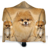 Pomeranian Face Hooded Blanket ZEUS2901