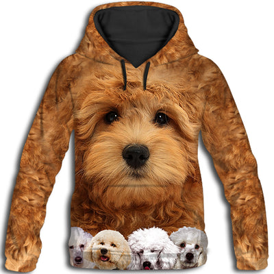 Poodle Awesome All Over Print Hoodie