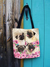 GAEA - Pug Flower Totes Bag 2303