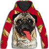 DOG - Pug Taco All Over Print Hoodie  - PHOEBE090143