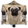Pug Face Hooded Blanket ZEUS2401