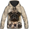 Pug Awesome All Over Print Hoodie