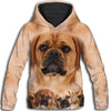Puggle Awesome All Over Print Hoodie