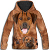 Rhodesian Ridgeback Awesome All Over Print Hoodie