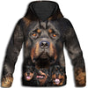 Rottweiler Awesome All Over Print Hoodie
