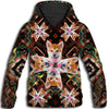 Shiba Inu Flower Pattern 3 All Over Print Hoodie ZEUS1501
