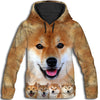 Shiba Inu Awesome All Over Print Hoodie