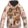 Shiba Inu Flower Pattern 1 All Over Print Hoodie ZEUS1501