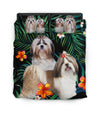 Shih Tzu Green Orange Bedding ZEUS11011
