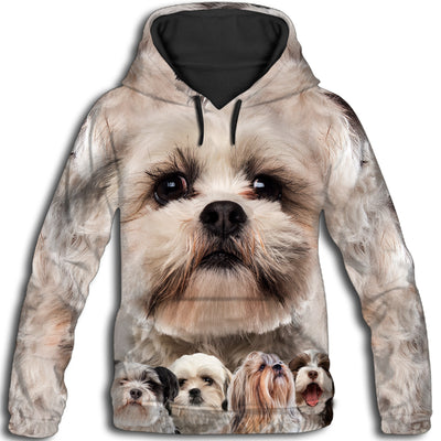 Shih Tzu Awesome All Over Print Hoodie