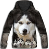 Siberian Husky Awesome All Over Print Hoodie