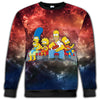 The Simpsons - The Simpsons Galaxy All Over Print Crewneck Sweatshirt - THEIA191211