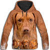 Vizsla Awesome All Over Print Hoodie