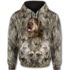 Wirehaired Pointing Griffon Face All Over Print Full Zip Hoodie ZEUS030140