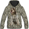Wirehaired Pointing Griffon Face All Over Print Hoodie HEMERA1501