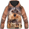 Yorkshire Terrier Awesome All Over Print Hoodie