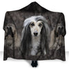 Afghan Hound Face Hooded Blanket ZEUS2901