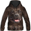 Pit Bull Awesome All Over Print Hoodie