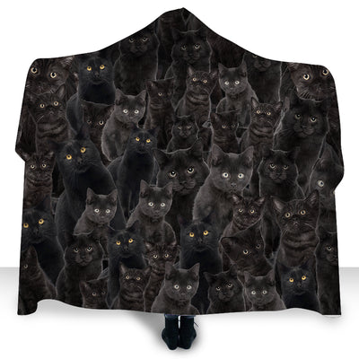 Cats Black Cat Hooded Blanket NYX070203