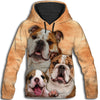 Bulldog Family All Over Print Hoodie