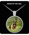 Dogs - No Longer At My Side But Always In My Heart Necklace - German Shepherd - PHOEBE220106